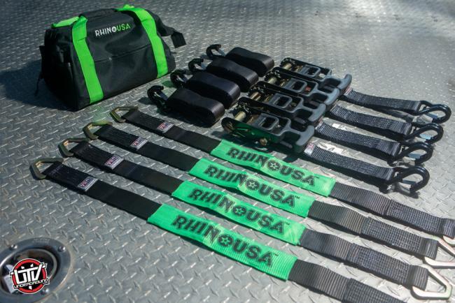 Rhino USA Vehicle Ratchet Tire Down Kit 04