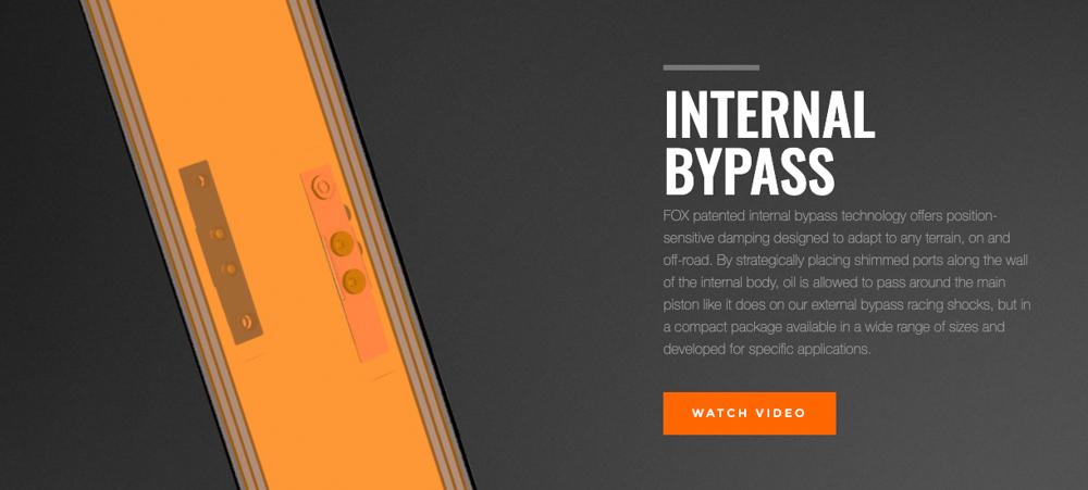 fox internal bypass utv shocks