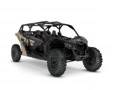 ORV SSV MY22 MaverickX3 MAX DS Turbo Desert Tan Carbon Black SKU0007WNE00 Studio 34FR NA